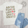 I love You Leopard Alphabet Teacher T-Shirt Flat