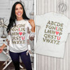 I love You Leopard Alphabet Teacher T-Shirt Product Image