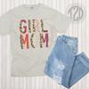Girl Mom Leopard Letter T-Shirt Flat