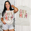 Girl Mom Leopard Letter T-Shirt Product Image