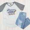 Custom Sassy Since Birth Year V-Neck Flat