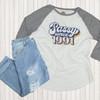 Custom Sassy Since Birth Year Raglan Flat