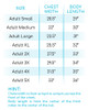 Custom Sassy Since Birth Year Raglan Size Chart