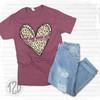 Be Kind Leopard Heart T-Shirt flat lay