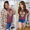 Be Kind Leopard Heart T-Shirt lifestyle