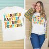 Flannels Harvest Hayrides and Pumpkins Fall T-Shirt