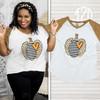 Leopard Stripe Pumpkin V-Neck Product Image