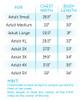 Hello Fall V-Neck Size Chart