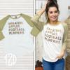 Sweaters, Apples, Football, and Pumpkins Raglan Product Image