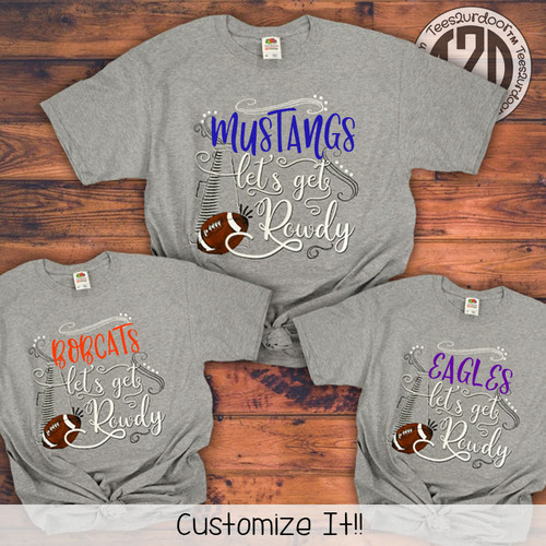 69281561af8 Personalized and Monogrammed Football Mom T-Shirts | Tees2UrDoor