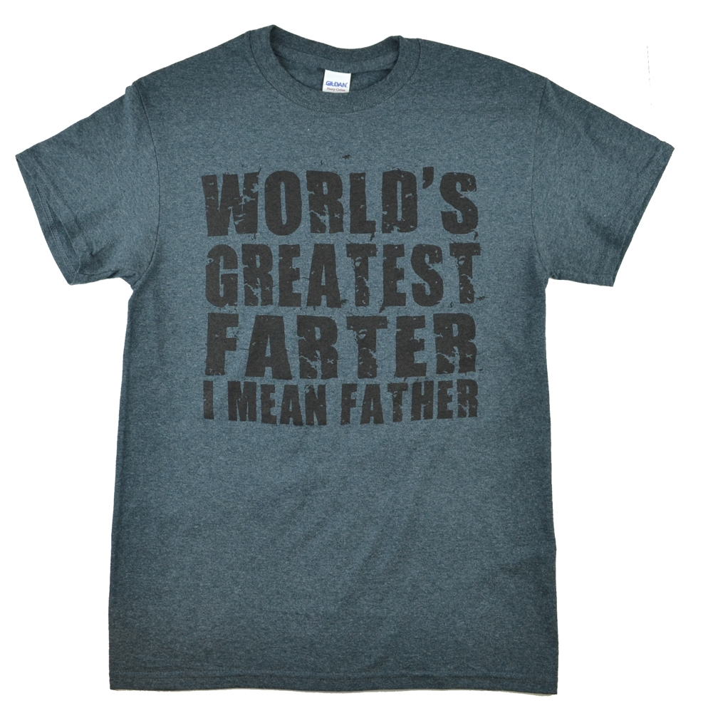 59804360 World's Greatest Farter/Father Father's Day Dark Heather T-Shirt ...