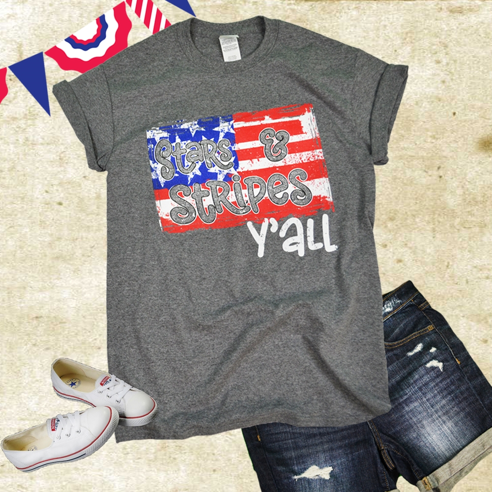 Stars and Stripes Y'all T-Shirt