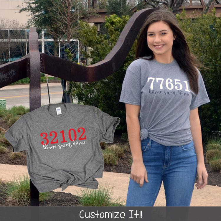 Zip Code Shirt Lifestyle