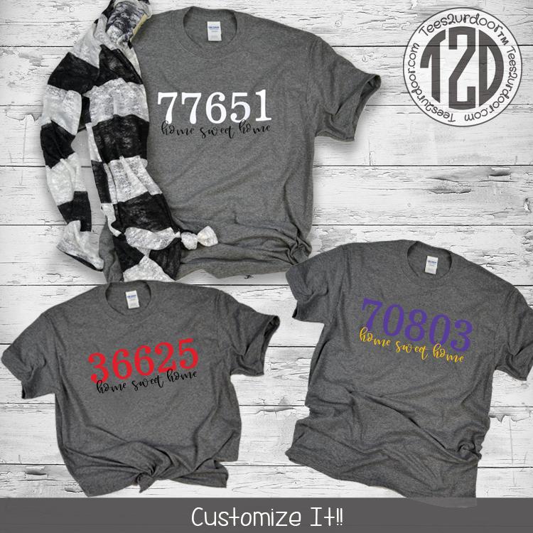 Zip Code Shirt Flat Image
