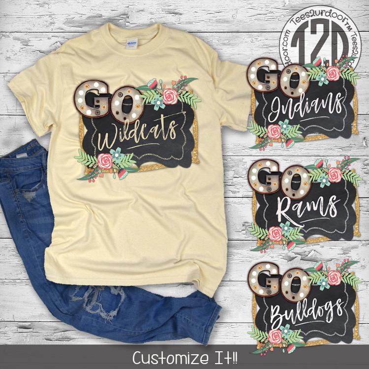 Go Mascot T-Shirt Product Flat Image
