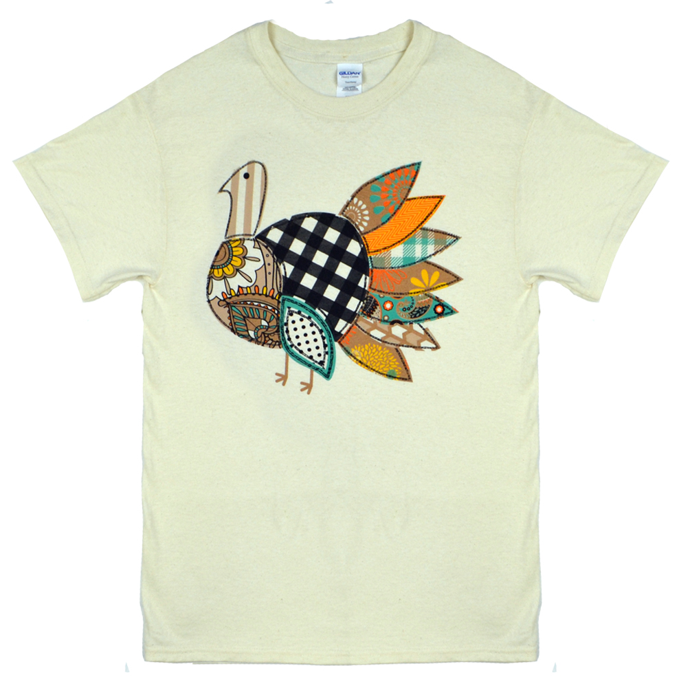 Patchwork Turkey T-Shirt Product Image