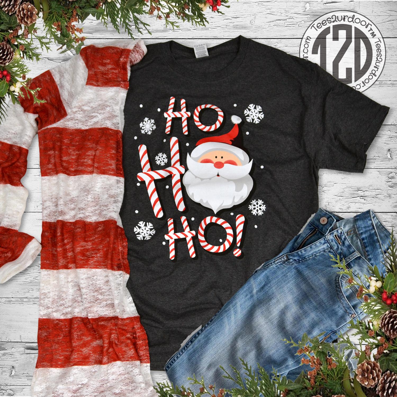 HO HO HO Christmas Santa T-Shirt Lifestyle 3
