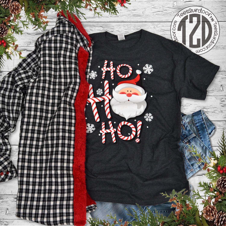 HO HO HO Christmas Santa T-Shirt Lifestyle 2