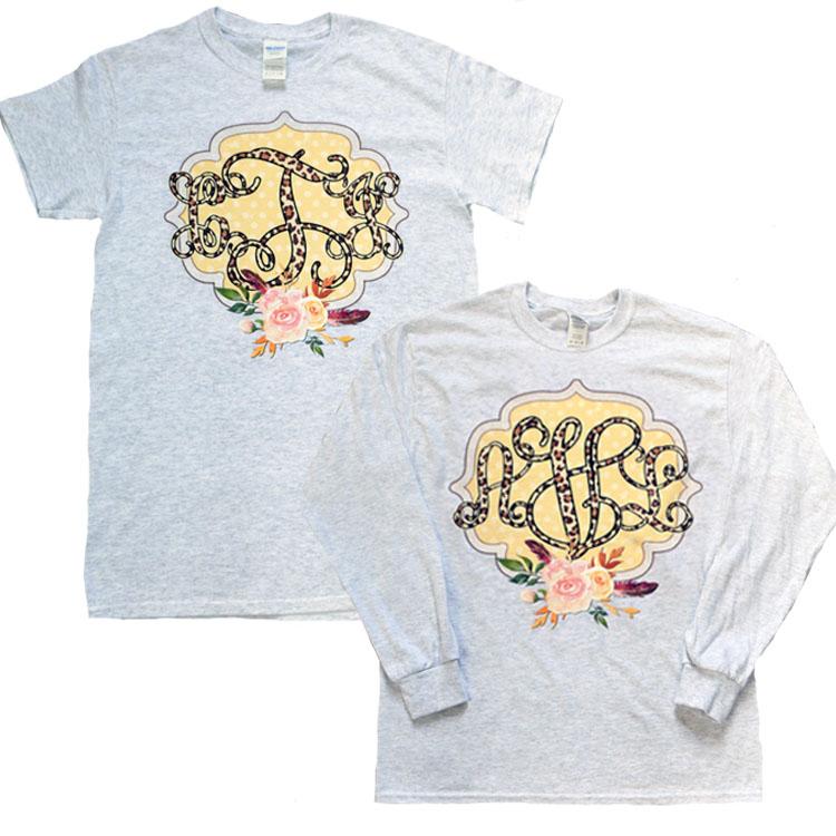 Leopard Vines Monogram T-shirt Product Image