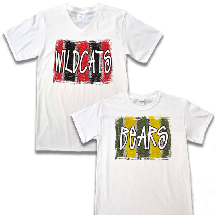 Brush Stroke Custom T-Shirt Product Image
