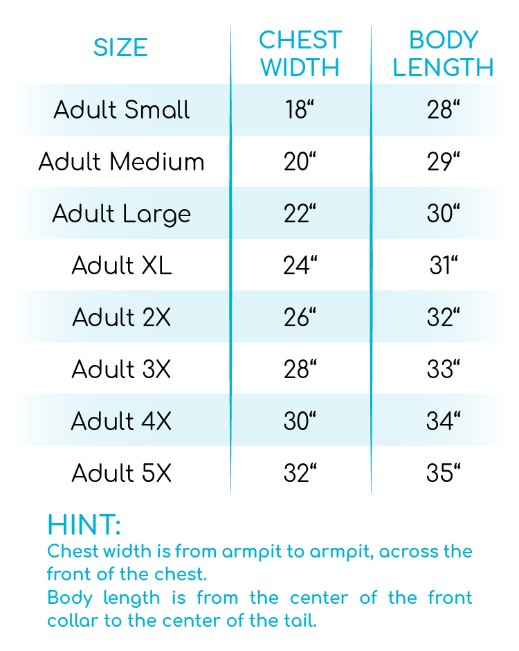 Slightly Wild About Teaching T-Shirt Size Chart