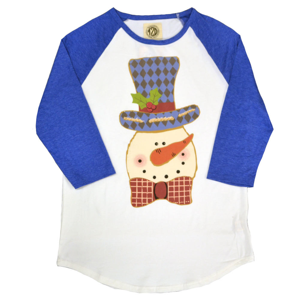 Frosty the Snowman Raglan Product Image