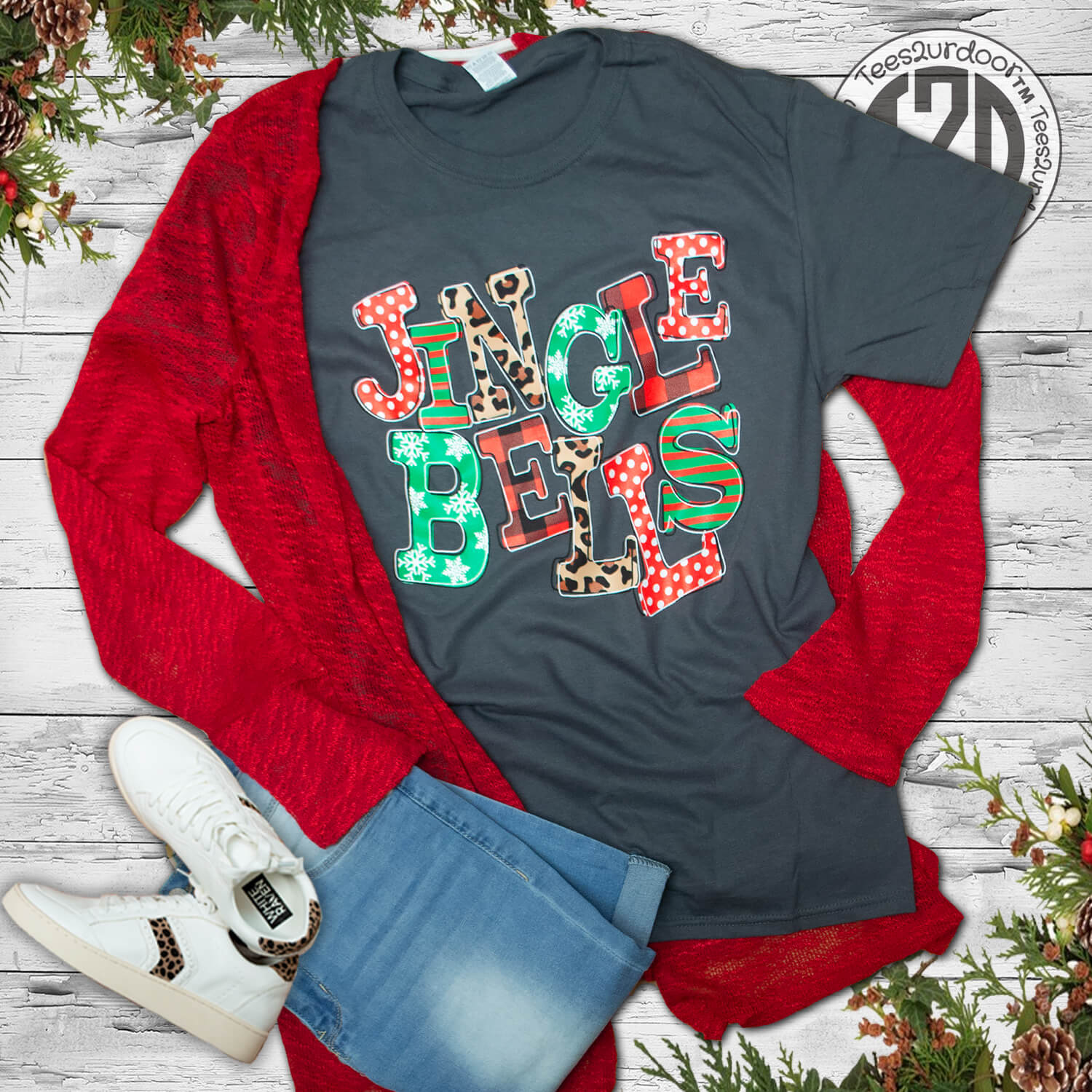 Jingle Bells Christmas T-Shirt Flat