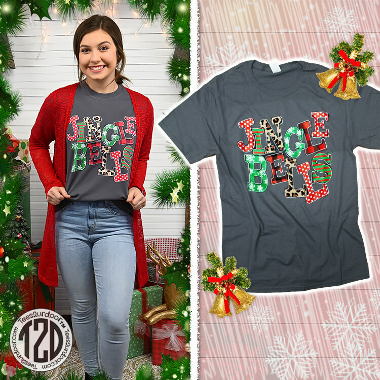 Jingle Bells Christmas T-Shirt Product Image