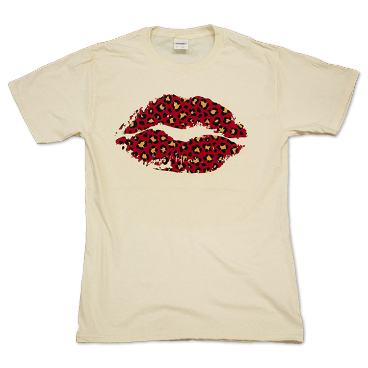 Red Cheetah Lips Flat Image