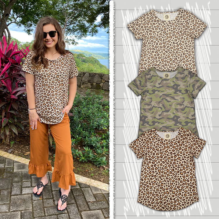 Patterned Relaxed Basic Lifestyle and Products
