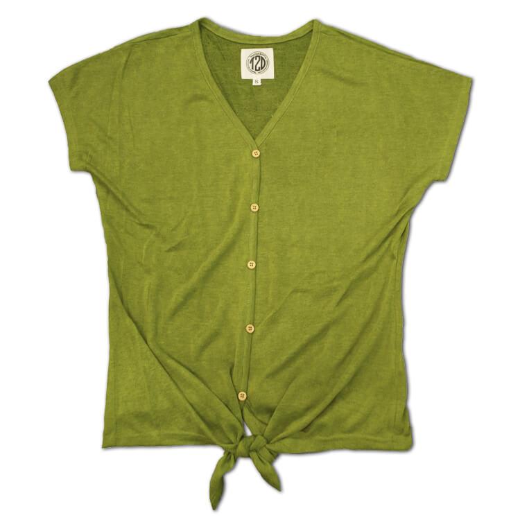 Lightweight Slub Tie Top Guacamole Product Image