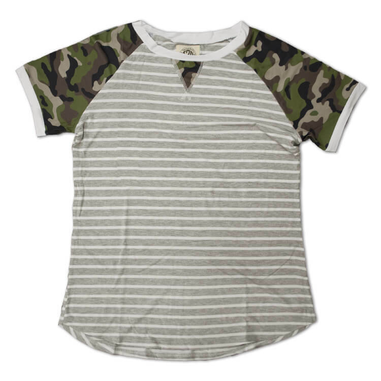 Relaxed Stripe Basic Tee Camo Product Image