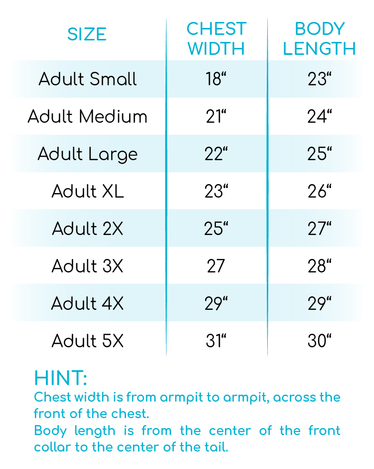 Relaxed Stripe Basic Tee Size Chart