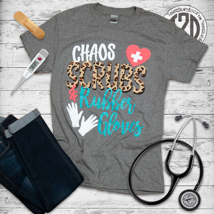 Chaos Scrubs and Rubber Gloves Flat