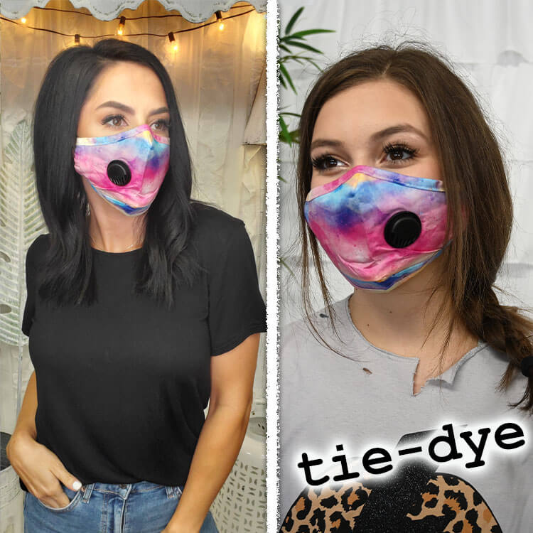 Reusable Cotton mask with PM 2.5 Carbon Filter Insert and Breathing Valve - Non Medical Product Image