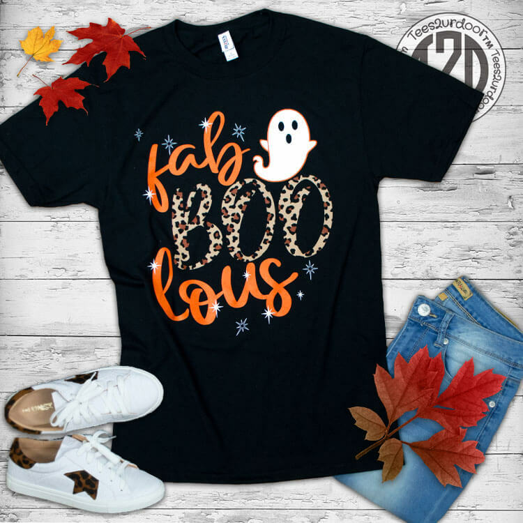 Fab-BOO-lous Halloween T-Shirt Flat