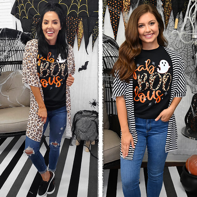Fab-BOO-lous Halloween T-Shirt Lifestyle