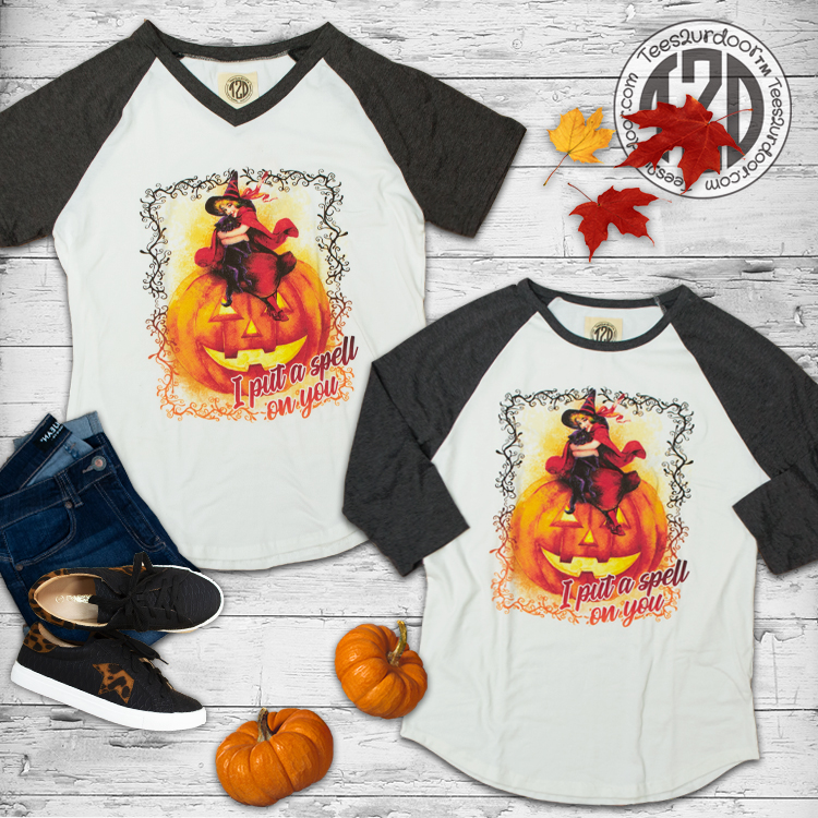 I Put A Spell on You Vintage V-Neck and Raglan Flat