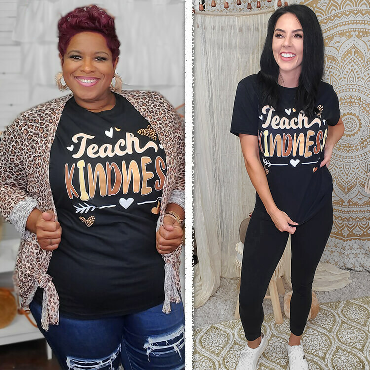Teach Kindness Teacher T-Shirt Lifestyle