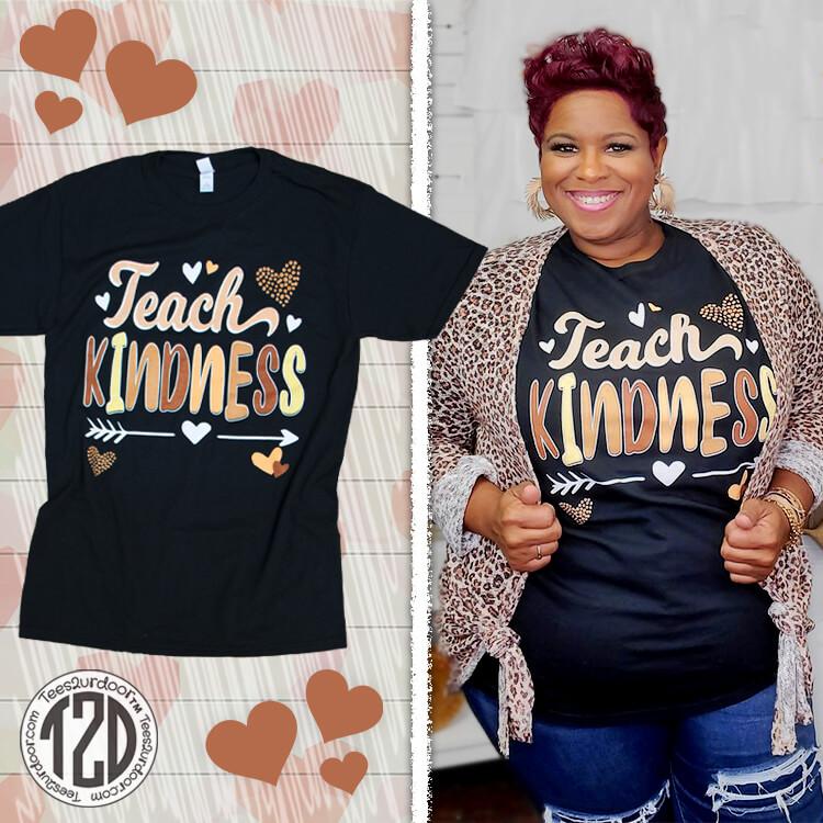 Teach Kindness Teacher T-Shirt Product Images