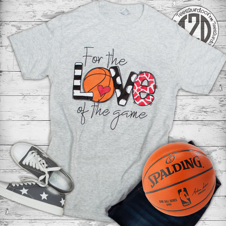 For the Love of the Game Basketball Flat