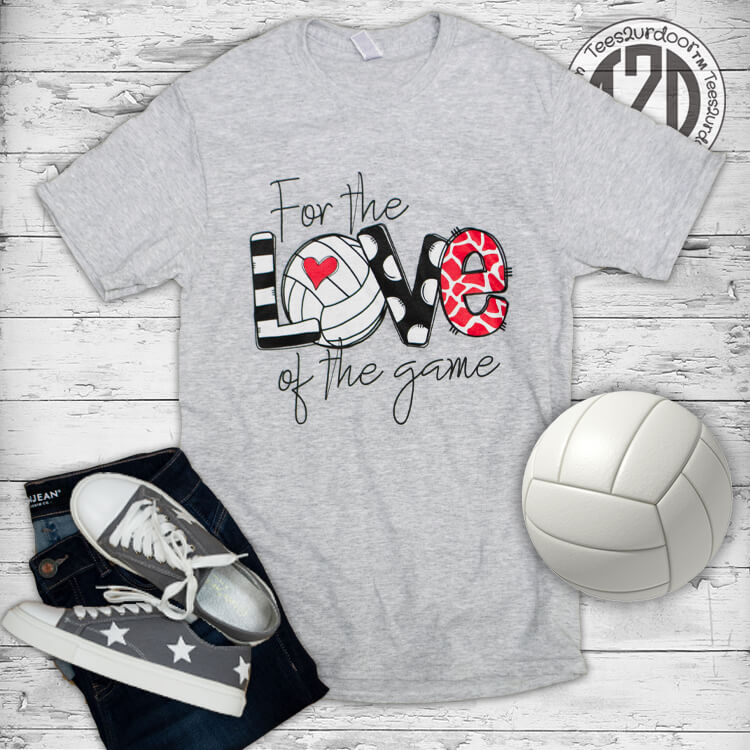 For the Love of the Game Volleyball Flat