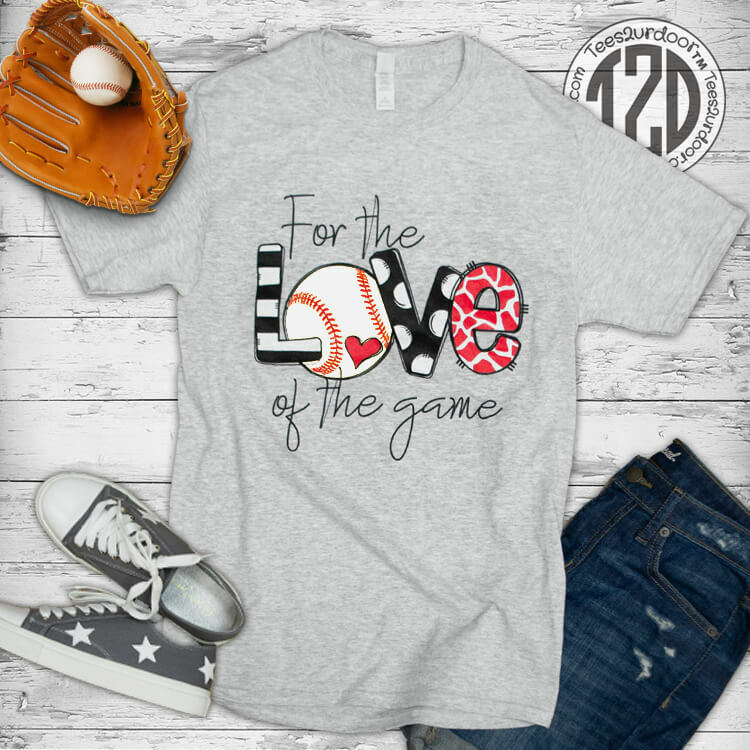 For the Love of the Game Baseball Flat