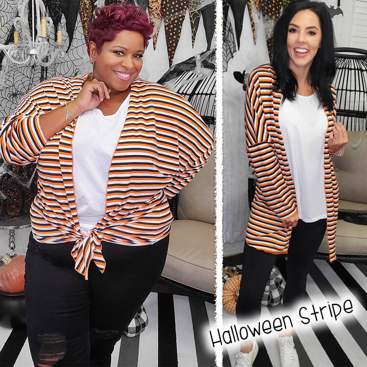 Halloween Stripe Lola Girl