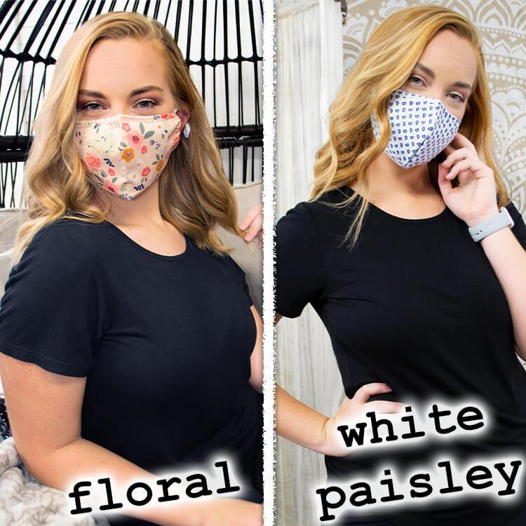 Reusable Woven Cotton Mask Lifestyle