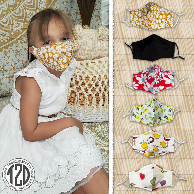 Reusable Woven Cotton Mask Youth Product Image