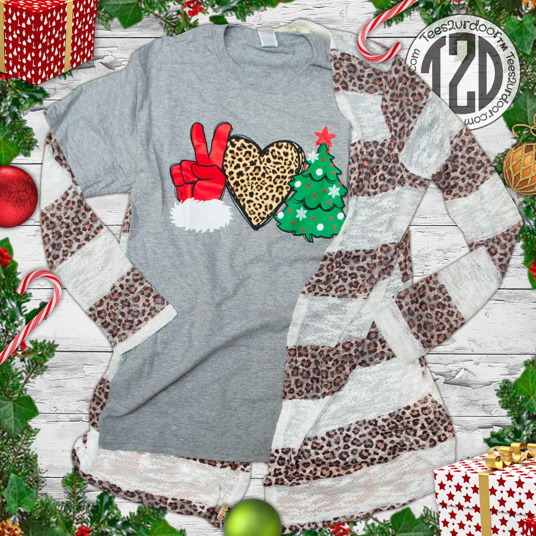 Peace Love Christmas Flat Image