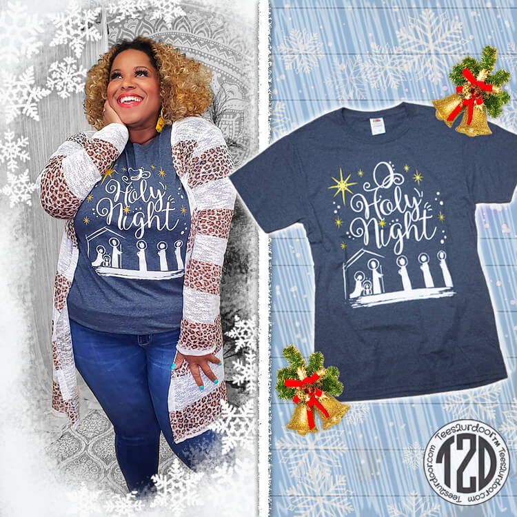 O Holy Night Christmas T-Shirt Product Image