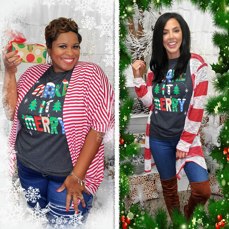 Make it Merry Christmas T-Shirt Lifestyle