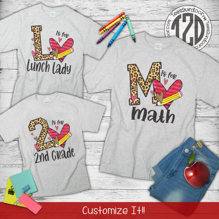 Letter is for Teaching T-Shirt Flat